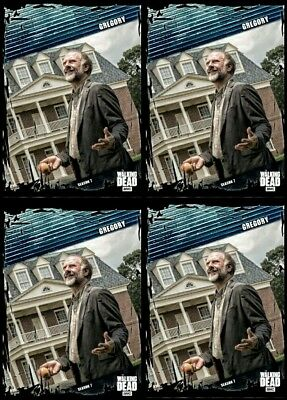 4x FALLOUT BLUE WAVE 2 GREGORY Topps Walking Dead Trader Digital Card