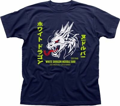 White Dragon Noodle Bar Blade Runner 2018 Tyrell Corp navy t-shirt fn9198