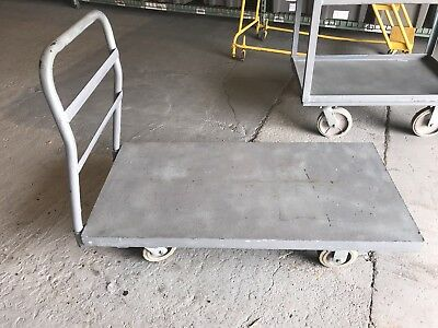 "Platform Cart Metal Deck Used good condition 24"" x 48"""