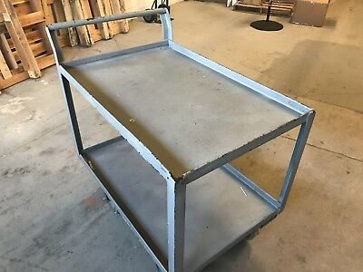 Heavy Duty Rolling Utility Cart 2 Shelves USED Pick up only