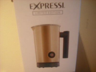 Expressi Milk Frother.LIMITED EDITION.Soft Champagne Gold Cappuccino.Electric.