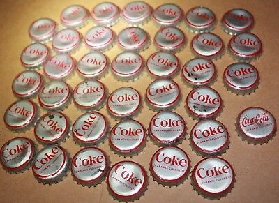 VINTAGE COCA COLA Coke CAPS some CORK LINING LOT OF (39) USED CAPS