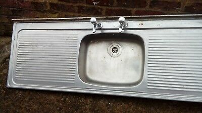 Kitchen Sink Unit Double Drainer With Taps,vintage Kitchen Sink With 2  Drainers.