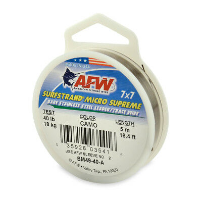 AFW Surfstrand Micro Supreme 7 x 7 Uncoated Trace Wire