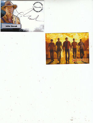 JOHN NOVAK SIGNED two(2) Smallville Trading cards