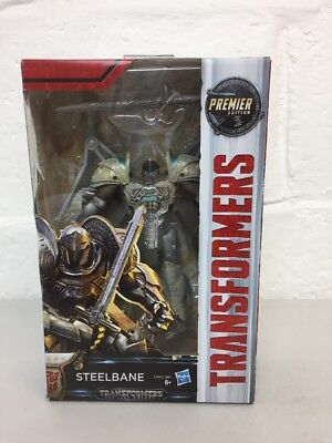 Transformers The Last Knight Premier Edition Deluxe Steelbane Figure