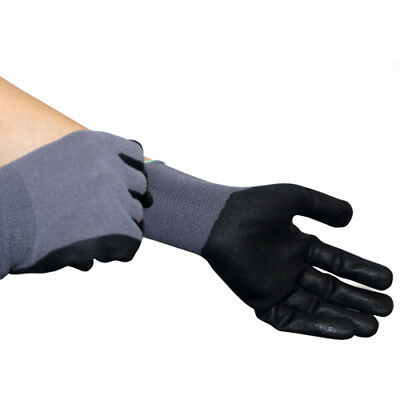 Horseware Coated Smooth Grip Unisex Gloves Yard Glove - Grey Black All Sizes