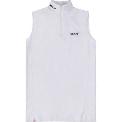 Musto Performance Stock Sleeveless Womens Shirt Competition - White All Sizes