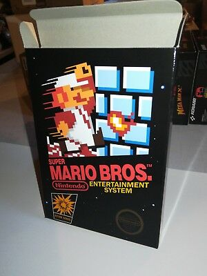 Super Mario Bros. Box Only NES Nintendo Replacement Art Case/Box!!!