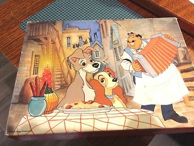 Vintage Springbok Lady And The Tramp 100 Piece Puzzle