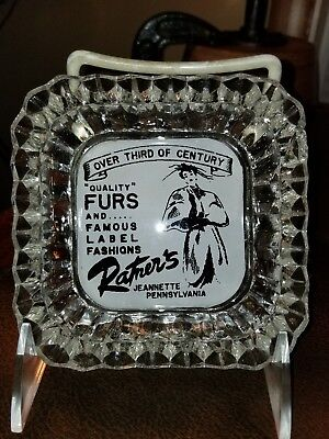 Rare 1940S Ratners Fur Coats Jeannette Pa Ashtray 'high Society' Woman