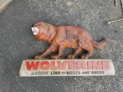 Vintage Wolverine Action Line Boots Advertising Sign