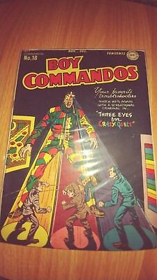 BOY COMMANDOS NO.18 (1946) VF. Well kept. Rare in this condition.