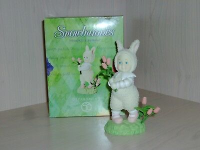 Easter Dept 56 Snowbunnies I Found These In Your Garden #56-26443 Excellent Cond