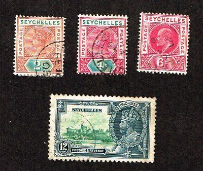 OLD SEYCHELLES -   stamps - LOT of  4 used stamps -  lot P 258