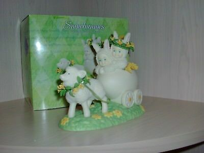 Easter Dept 56 Snowbunnies Ewe Pull We'll Follow #56-26450 Excellent Condition