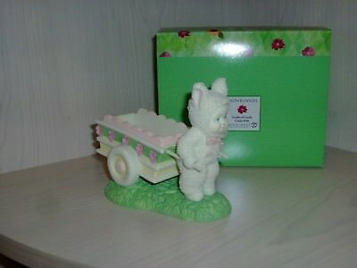 Easter Dept 56 Snowbunnies Cartful of Candy Dish #56-26487 Excellent Condition