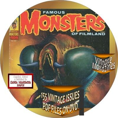 Famous Monsters Of Filmland Magazine - 155  Vintage Isses - Pdf Files On Cd