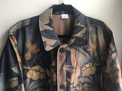 a3587355 $2,500 Dries Van Noten Runway SS17 Reversible Long Jacket - Sz IT 52 / US 42