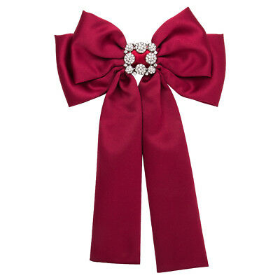 Women Fashion Party Wedding Canvas Bowknot Ribbon Pins Cotton Fabric Bow Ties