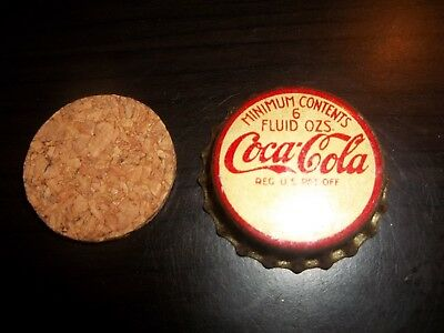 Coca Cola Bottling Cap from the 1920's with $1.00 winning game piece...with cork