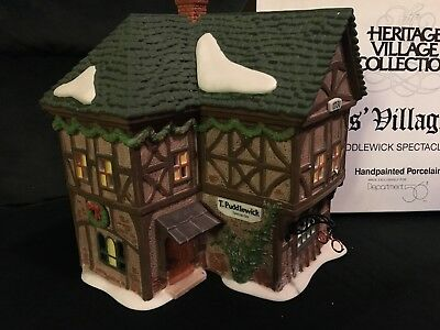 Dept 56 Dickens Heritage Christmas Village T. Puddlewick Spectacle Shop