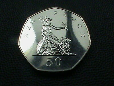 GREAT  BRITAIN    50 Pence  1977   PROOF    $ 2.99  maximum  shipping  in  USA
