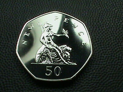 GREAT  BRITAIN    50  Pence   1976   PROOF   $ 2.99  maximum  shipping  in  USA