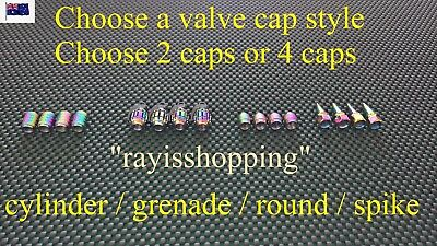 IV OPTIONS Buy 2 or 4 Valve Caps Rainbow Pearl Chameleon Schrader Car Motorbike
