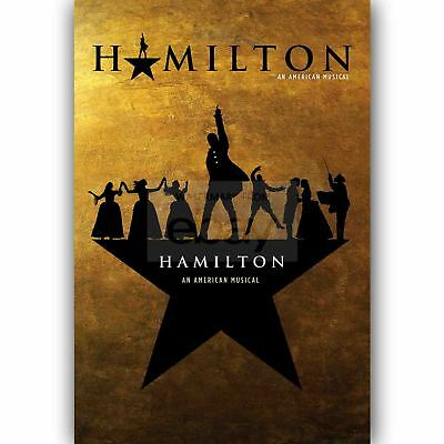 New Custom Hamilton American Musical Silk Poster Wall Decor