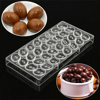 3D Egg Shape Chocolate Mould Candy Mold Jelly Molding Handmade DIY PC Plastic