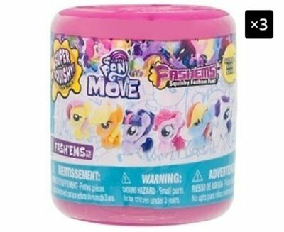 3 x Mash'ems Fash'ems My Little Pony Series 7 Assorted - Randomly Selected