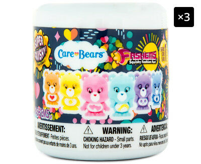 3 x Mash'ems Care Bears Fash'ems Assorted - Randomly Selected