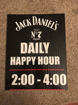 JACK DANIELS No. 7 HAPPY HOUR SIGN - Event Used - Whiskey Bar Man Cave Bourbon