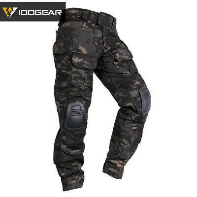 IDOGEAR G3 Combat Pants Military Trousers Tactical Airsoft MultiCam Black Camo
