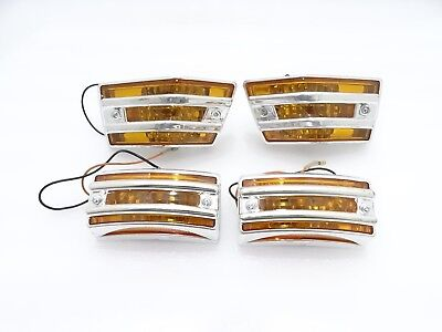 New Vespa Px/lml Front & Rear Indicator With Grill Orange Lens #vp728
