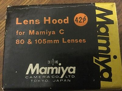 MAMIYA SEKOR HOOD -for 105 &80mm Lenses 42mm Dia C-330 Vintage - New Old Stock -