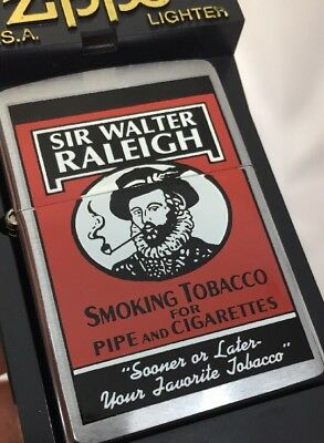 2000 Zippo Lighter Tobacco Tin Series Sir Walter Raleigh  -  50 Made MIB