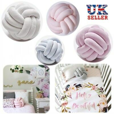 Baby Bedding Knot Ball Pillow Bumper Stuffed Cushion Braided Crib Knotted Toys