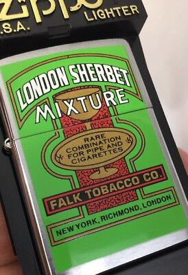 2000 Zippo Lighter Tobacco Tin Series London Sherbet Mixture   -  50 Made MIB