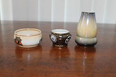 3 x early Royal Winton miniature dishes and vase-circa 1920s