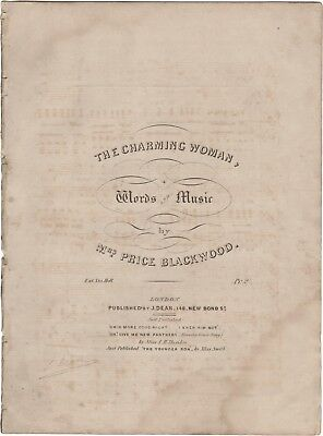 BLACKWOOD HELEN Spartito Musica THE CHARMING WOMAN Dean London 1836ca