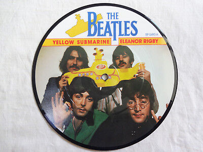 """unplayed 7"""" picture disc - THE BEATLES - Yellow Submarine/Eleanor Rigby"""
