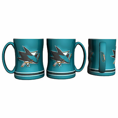 NHL San Jose Sharks 14oz Relief Mug Unisex Fanatics