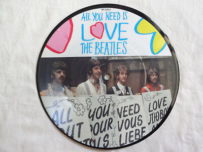 """unplayed 7"""" picture disc - THE BEATLES - All You Need Is Love"""