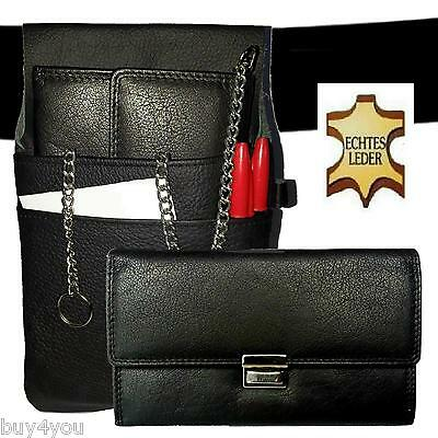 Pro Real Leather Server Set Waiter Wallet Holster Waiter Wallet Belt Case