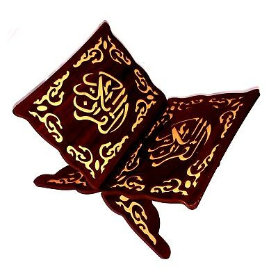 28x20x15cm Wooden Book Stand Holder Quran Muslim Ramadan Allah Islamic Gift Bookends Removable Handmade Wood Book Decoration Desk Accessories & Organizer