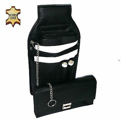 Server Set 3tlg. Waiters Holster Wallet Chain Purse Leather Bag Wallet