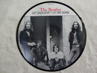 """unplayed 7"""" picture disc - THE BEATLES with BILLY PRESTON - Get Back (+ insert)"""
