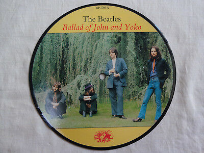 """unplayed 7"""" picture disc - THE BEATLES - The Ballad Of John And Yoko (+ insert)"""
